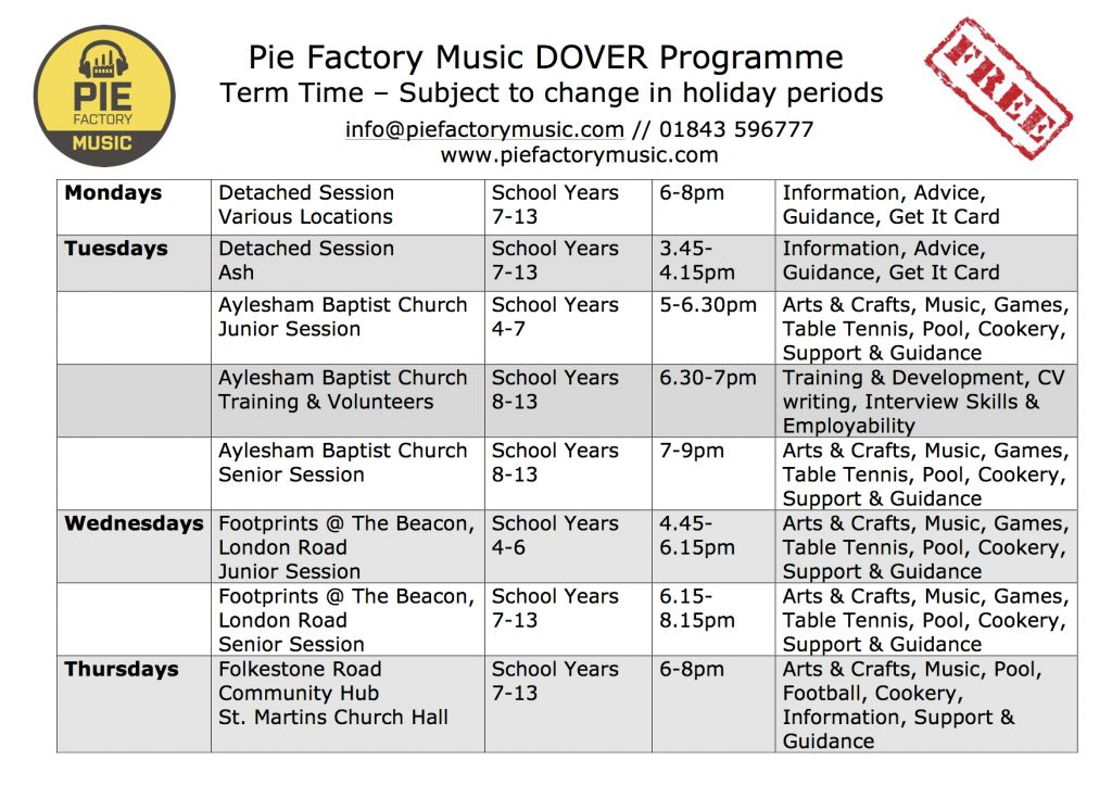 Dover Programme April 17th 2017 copy